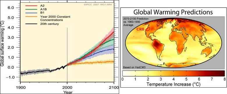 Image result for global warming projections 2070
